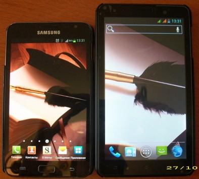 Два дисплея рядом - слева SGN, справа - i9977
