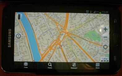 Навигация на Galaxy Note