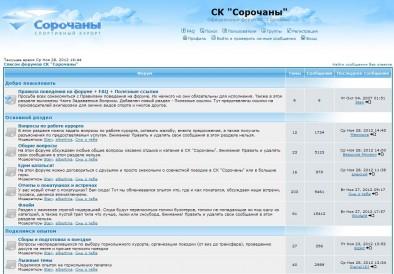 Главная страница форума на phpBB