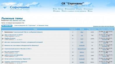 Страница с топиками на форуме phpBB