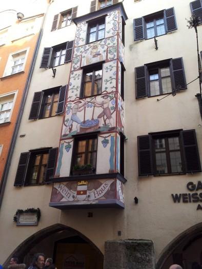 Фреска на доме в Инсбруке