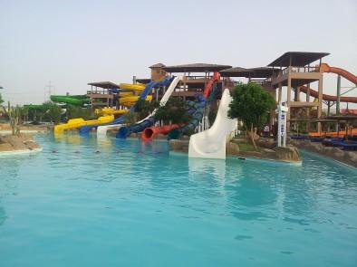 Общий вид на аквапарк Джунгли вблизи