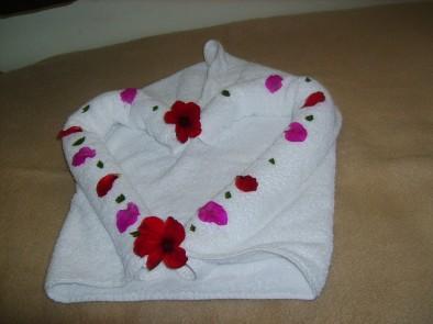 Сердце из полотенца