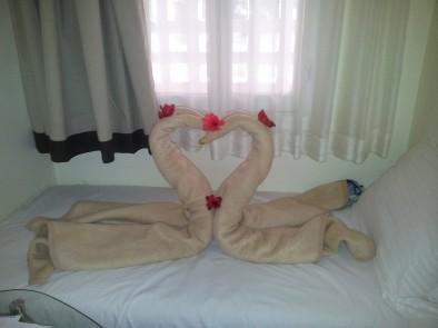 Лебеди из одеял
