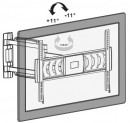 Наклонный и поворотный кронштейн для телевизора Wader WRB 312 - мои отзывы, и рассмотрение вопроса, на какую высоту повесить телевизор на стену в спальне