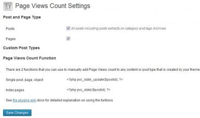 Настройки Page Views Count