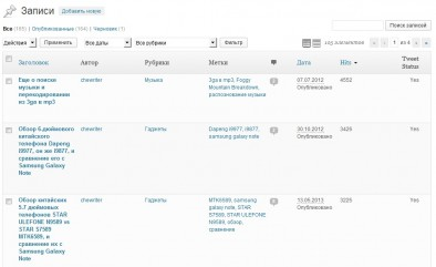 ajax his Counter выводит в админке в списке постов количество просмотров с сортировкой
