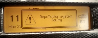 depollution system faulty
