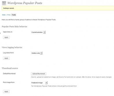 Wordpress popular posts - настройки