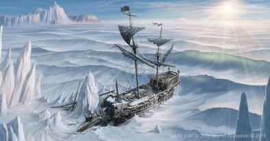 Замерзший корабль в Снежной королеве