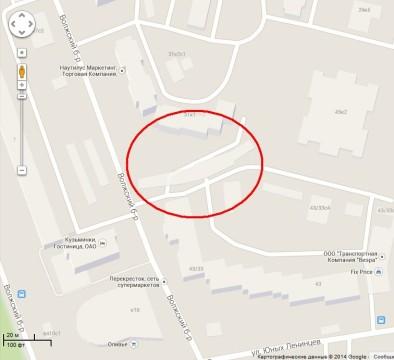 Фантомный дом на карте гугл