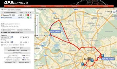 GPShome.ru - карта