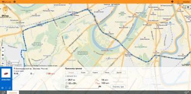 Трек, полученный в GPS-Trace Orange