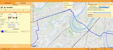 Трек, отображенный в старой версии GPS-Trace Orange