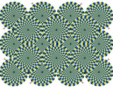 Оптическая иллюзия - вращающиеся круги