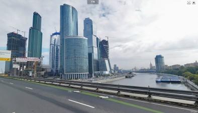 Вид на Москва-сити у Яндекса