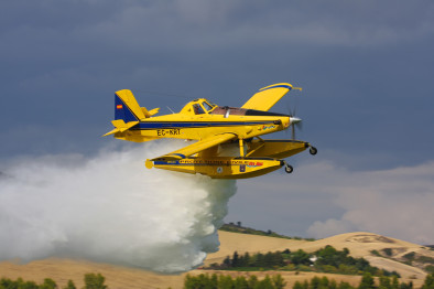 Air tractor 802F fire boss тушит пожар