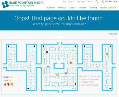 Pac-man 404