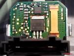 Силовой транзистор на блоке управления вентилятора печки