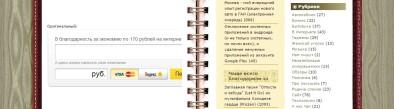 Изначально вставленный код, полученный от Яндекса
