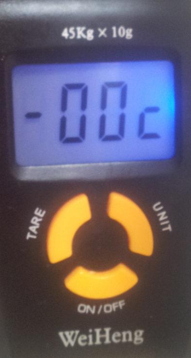 Температура с морозилке ниже нуля, но весы показывают ноль