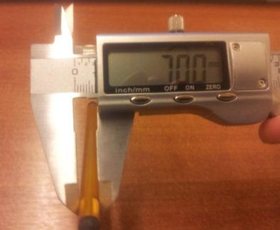Измерение диаметра стилуса