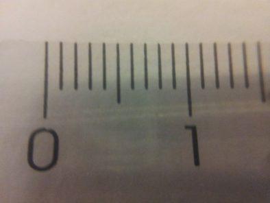 Первая попытка с макро - поле зрения около 1.9 см