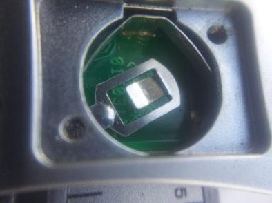 Место для батарейки в макро
