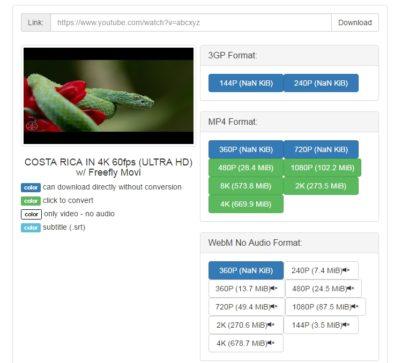 Скачивание UltraHD с Youtube с 1S