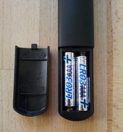 Место под батарейки