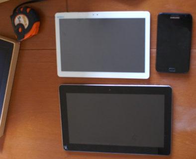 Сравнение размеров планшета