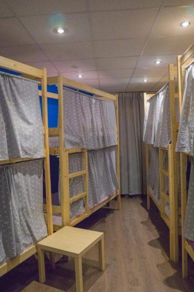 Четыре двухэтажных кровати