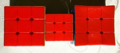 Красная сторона кубиков