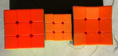 Оранжевый цвет кубиков