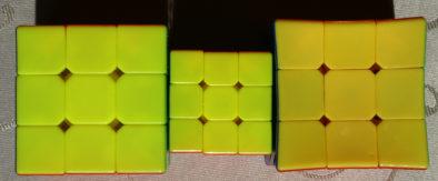 Желтая сторона кубиков