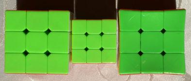 Зеленая сторона кубиков