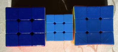 Синие стороны кубиков