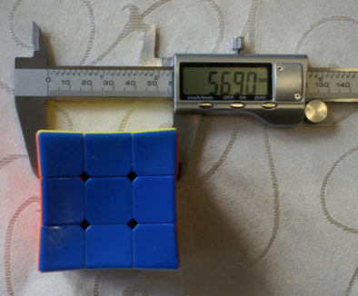 Размер вогнутого кубика