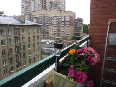 Вид балкона-курильщика