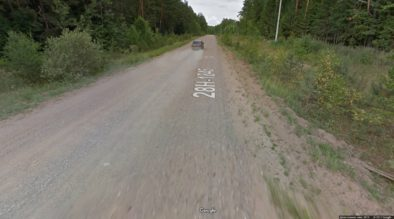 Грунтовка между Торопцом и Холмом, отмеченная на Яндексе, как шоссе