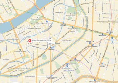 Расстояние от метро до Хостела