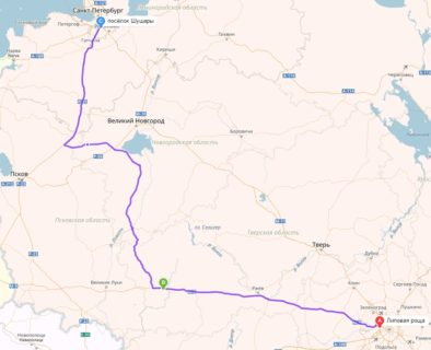 Москва - Питер в объезд Пскова через Торопец и Старую Русу