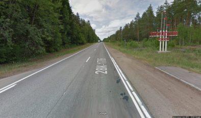 Граница Торопецкого района после поворота на Торопец (Гугл карты)