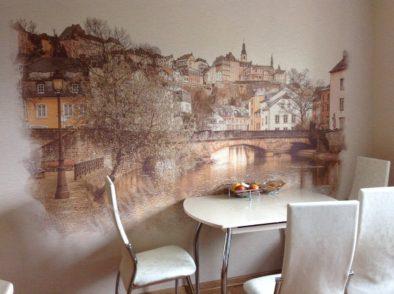 Виды Люксембурга на стене
