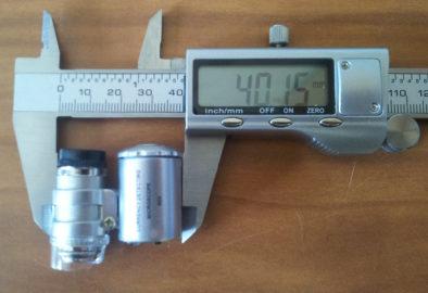 Размеры микроскопа