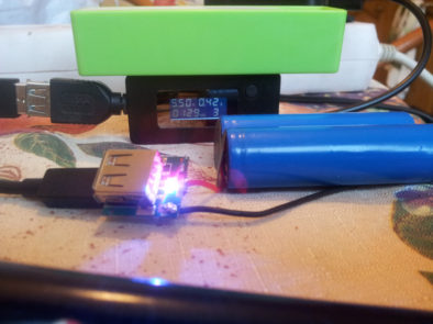 Зарядка аккумуляторов с помощью платы, извлеченной из пауэрбанка