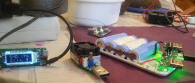 Сила тока при зарядке полностью разряженных банок