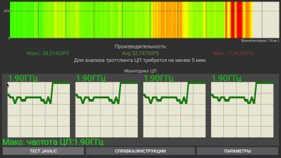 Частота процессора на новой версии