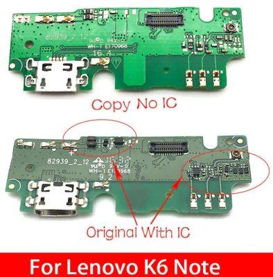 Плата зарядки и антены для Lenovo K6 Note